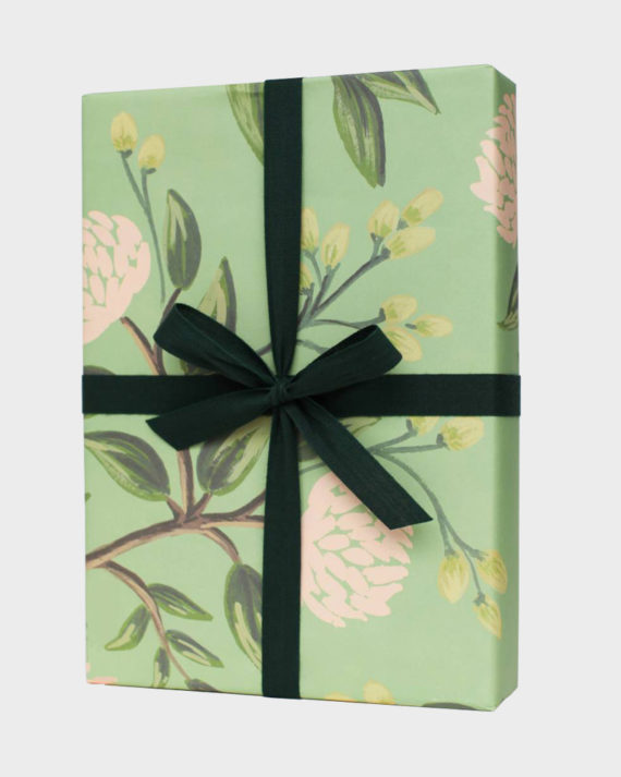 Rifle Paper co Emerald Peonies Wrapping paper sheets Lahjapaperi