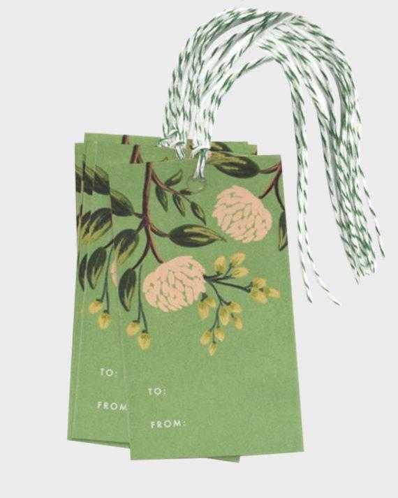 Rifle Paper co Emerald Peonies gift tags Pakettikortit