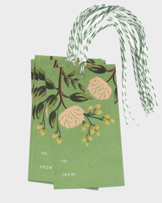Rifle Paper co Emerald Peonies gift tags Pakettikortit