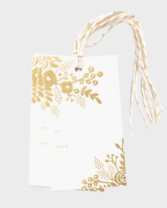 Rifle Paper co Gold Lace gift tags Pakettikortit