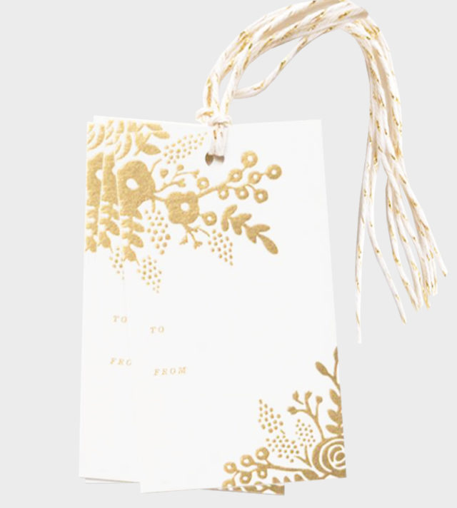 Rifle Paper co Gold Lace gift tags Pakettikortit