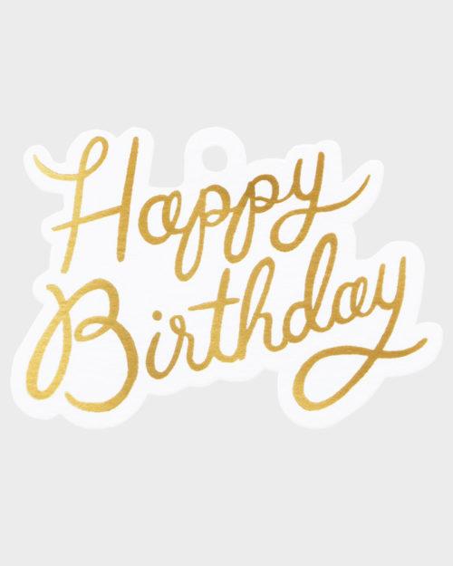 Rifle Paper co Happy Birthday Gift Tag Pakettokortti