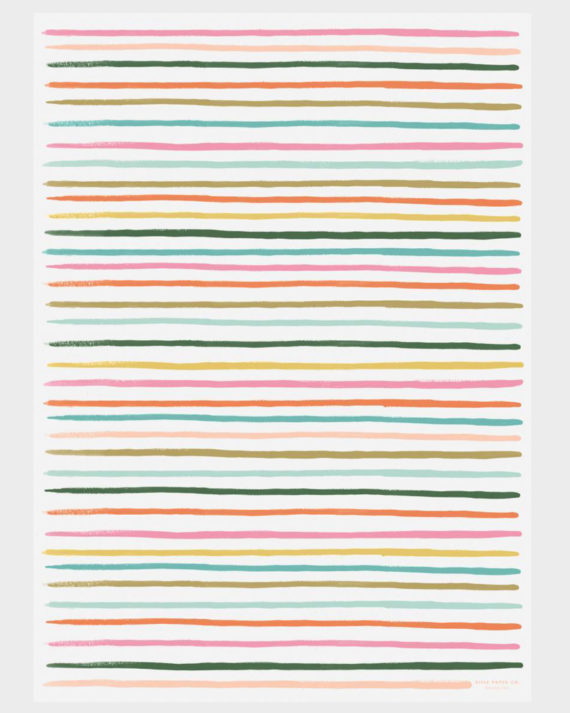 Rifle Paper co Happy Stripes Wrapping paper sheets Lahjapaperi