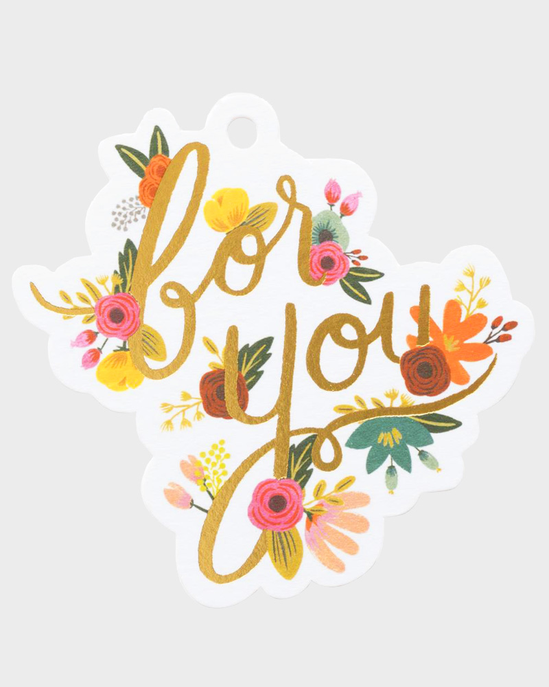 Rifle Paper co Mint Floral For You Gift Tag Pakettokortti