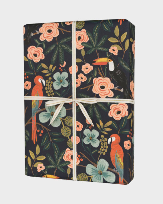 Rifle Paper co Paradise Gardens Wrapping paper sheets Lahjapaper
