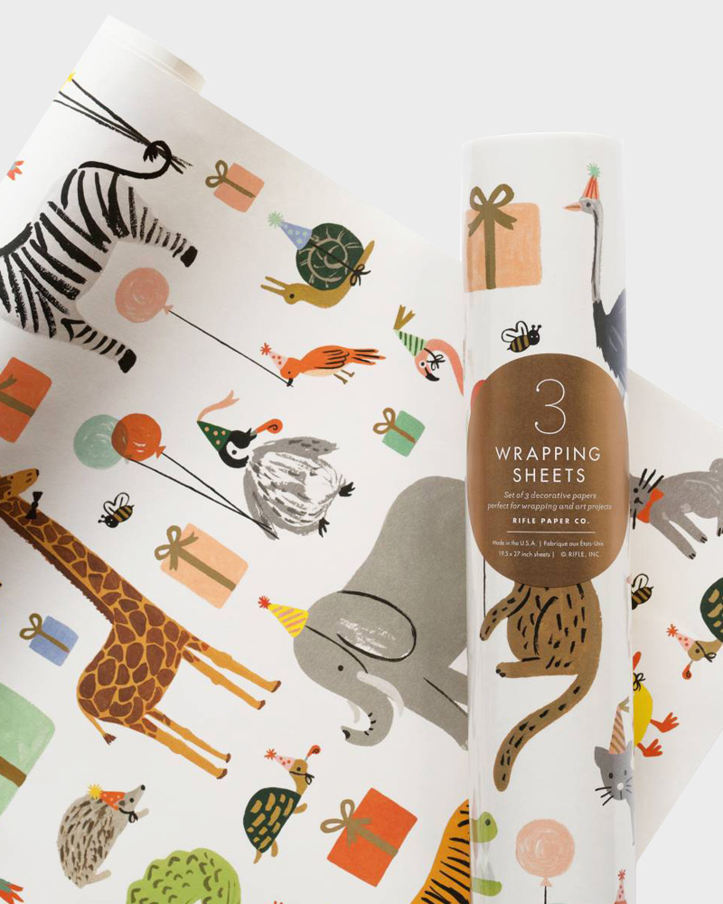 Rifle Paper co Party Animals Wrapping paper sheets Lahjapaperi