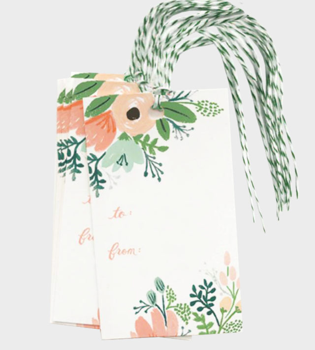 Rifle Paper co Wildflower gift tags Pakettikortit