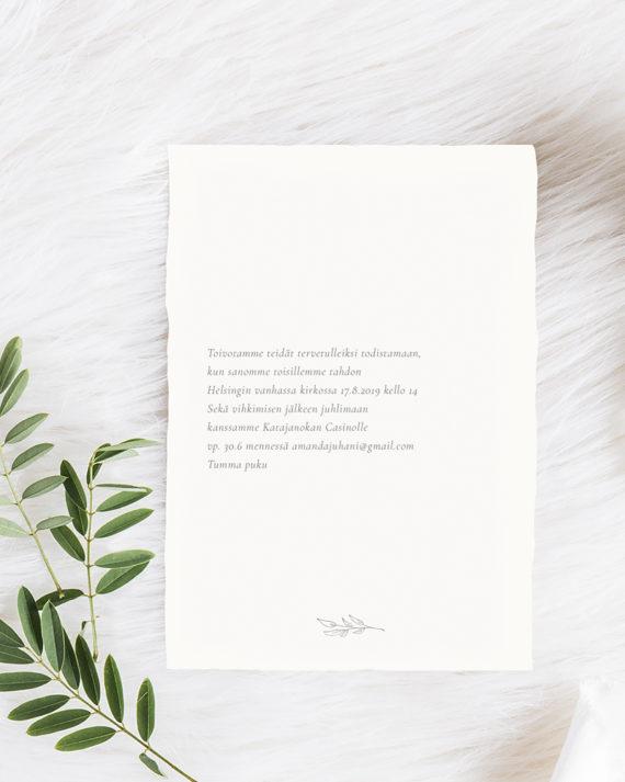 Papershop Painostudio Minimal Kutsu Invitation