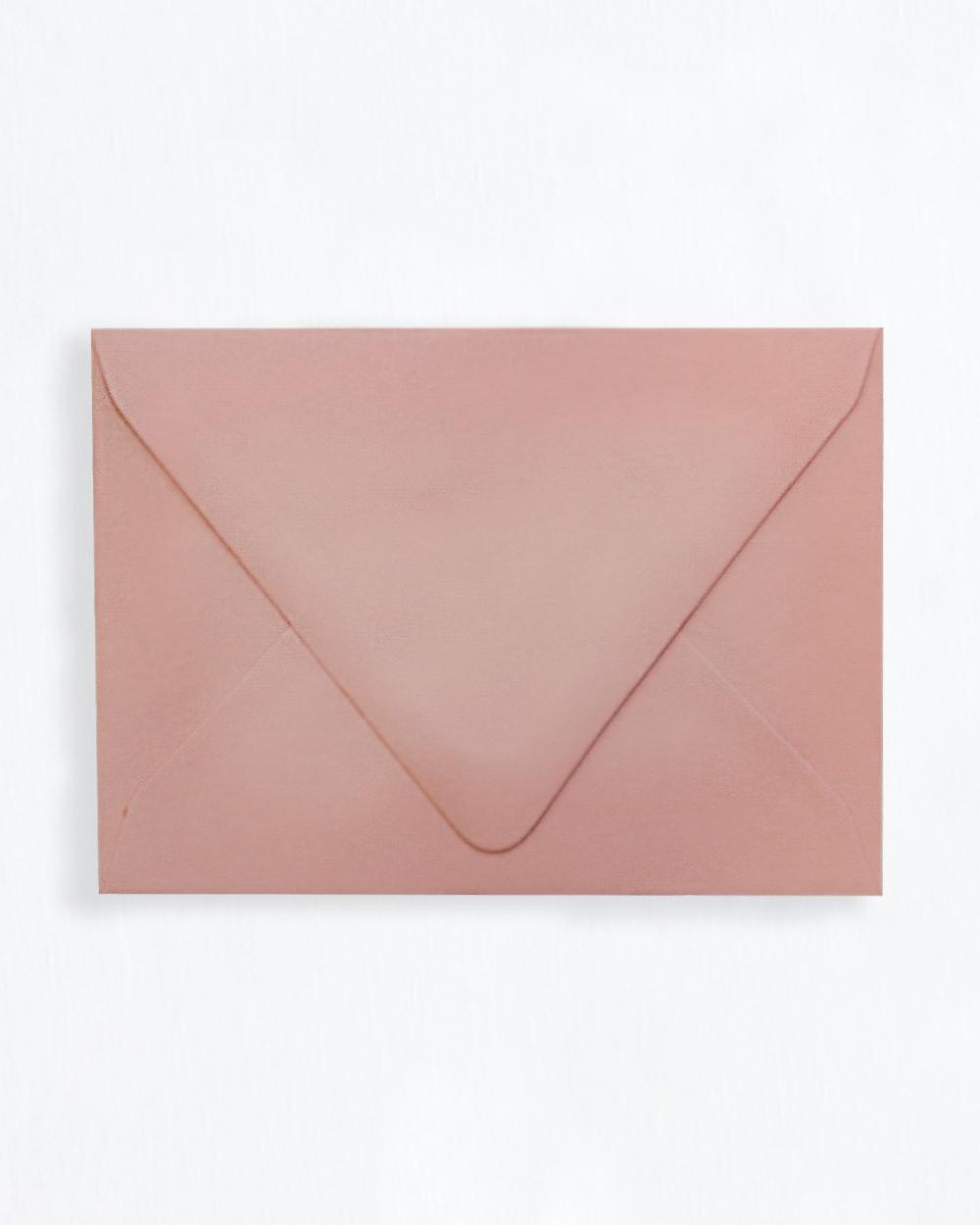 Kirjekuori vanha roosa