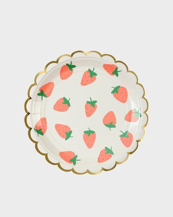 MeriMeri Party Strawberry plates Mansikka lautaset pienet