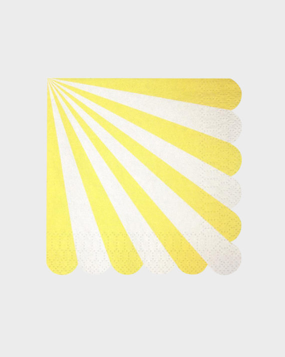 MeriMeri Party Yellow Napkins Keltaiset Servetit pienet