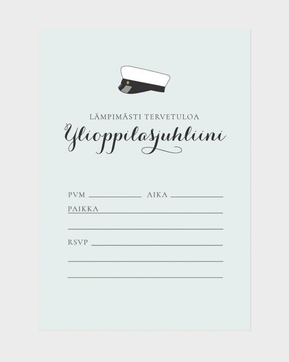 Papershop Classic Kutsupohja Ylioppilasjuhlat Tervetuloa Invitat