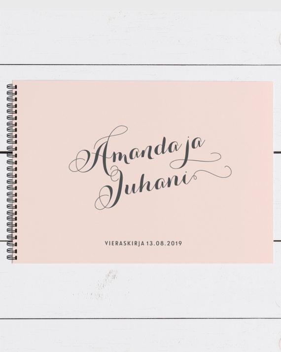Papershop Vieraskirja Classic Wedding Guest Book