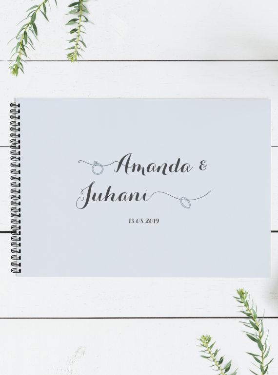 Papershop Vieraskirja Häär Sormukset Wedding Rings Guest Book