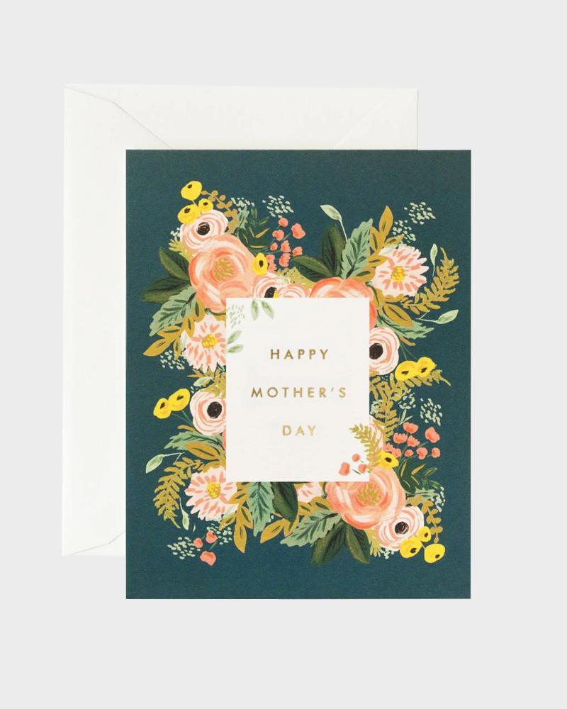 Rifle Paper co Bouquet Mothers Day Card Super Äiti Äitienpäiväkortti