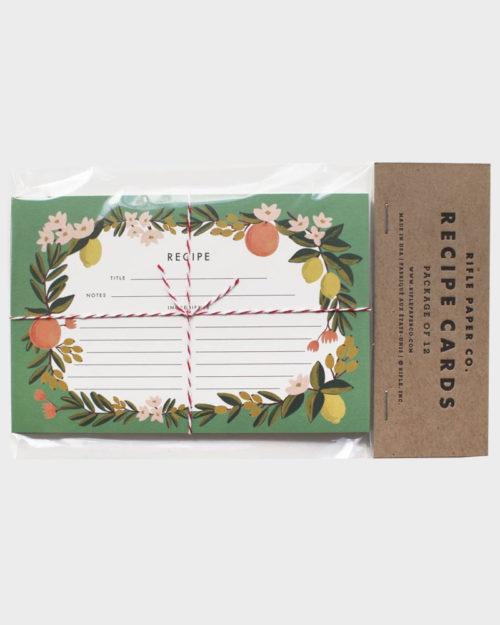 Rifle Paper co Citrus Floral Recipe Cards Reseptikortit