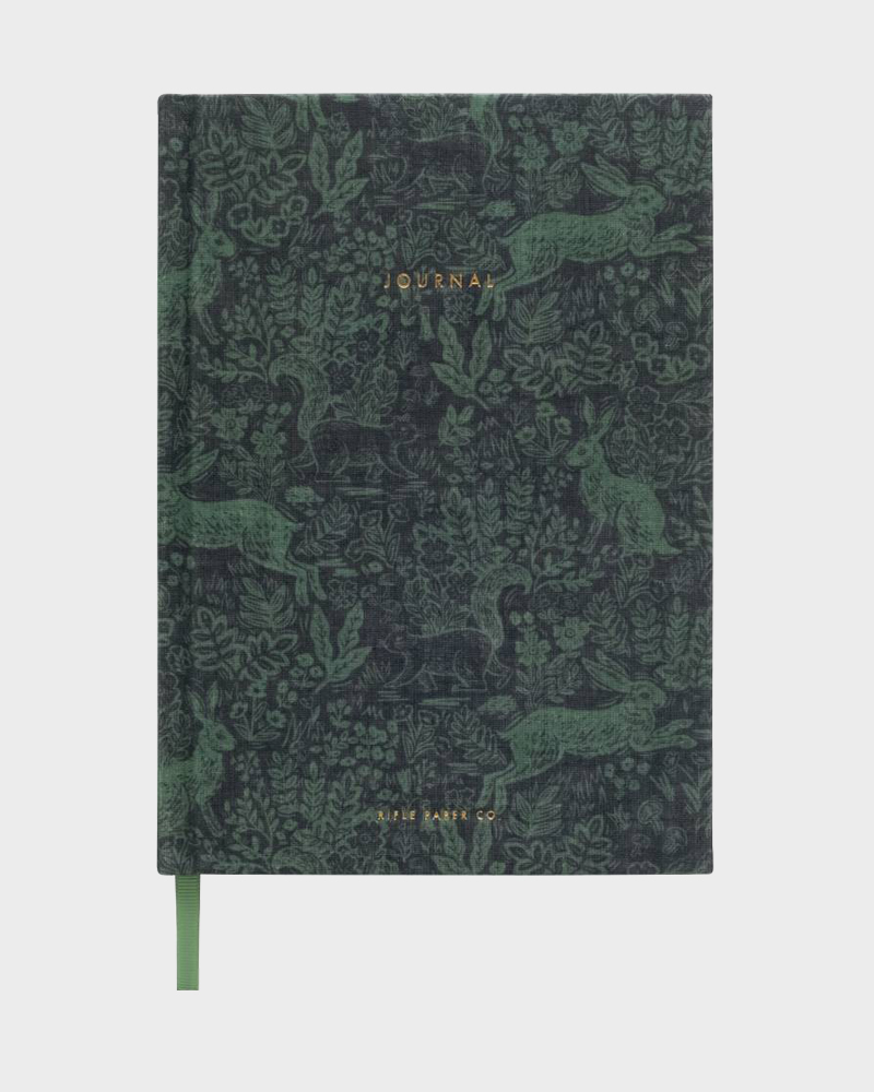 Rifle Paper co Fabel Fabric Journal Kangaskantinen Muistikirja