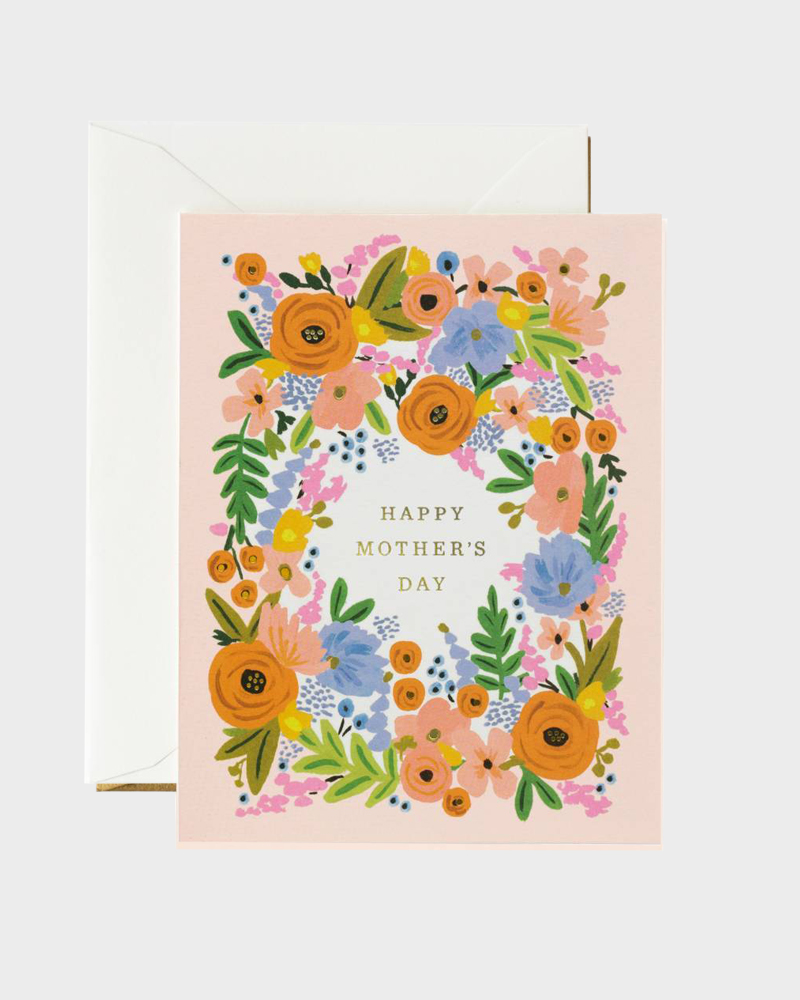 Rifle Paper co Super Floral Mothers Day Card Super Äiti Äitien