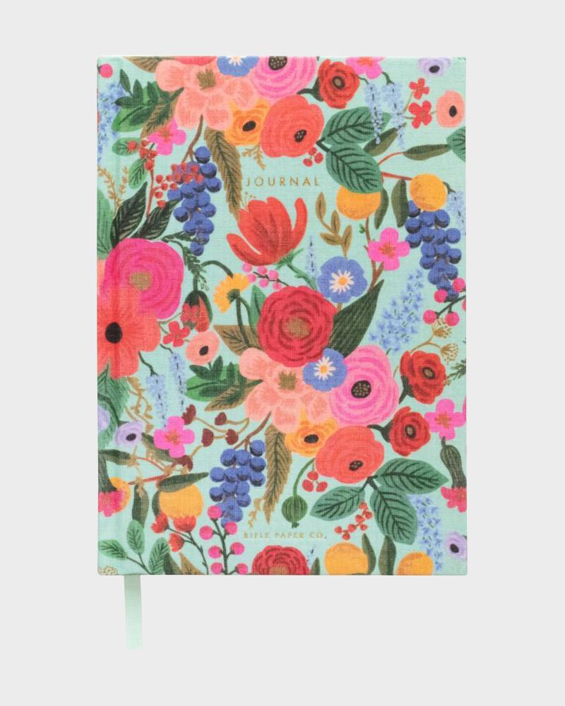 Rifle Paper co Garden Party Fabric Journal Kangaskantinen Muistikirja