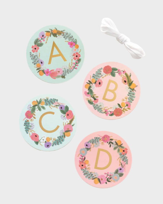 Rifle Paper co Garden Party Alphabet Lette Garland Kirjainviiri