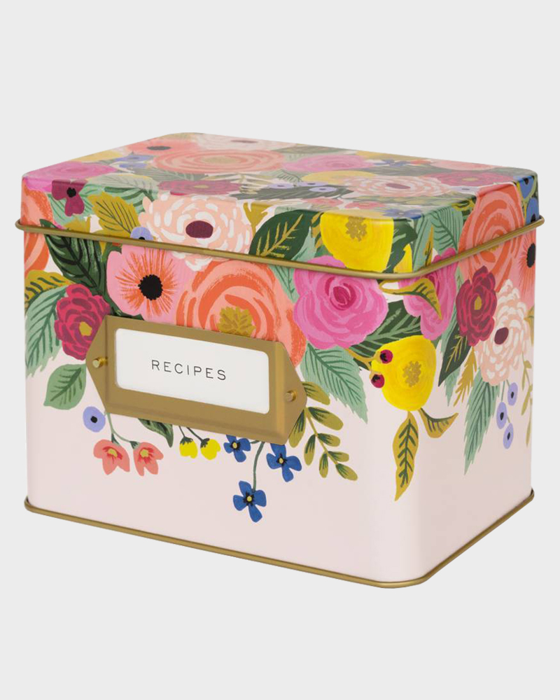 Rifle Paper co Juliet Rose recipe box Reseptilaatikko