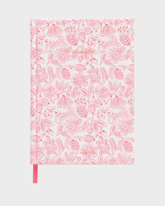 Rifle Paper co Moxie Floral Fabric Journal Kangaskantinen Muisti