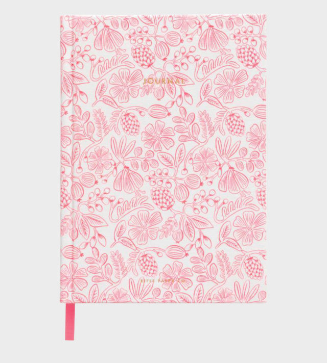 Rifle Paper co Moxie Floral Fabric Journal Kangaskantinen Muisti