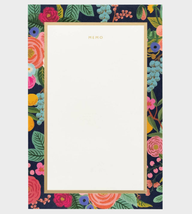 Rifle Paper co Garden Party Memo Pad Muistilehtiö
