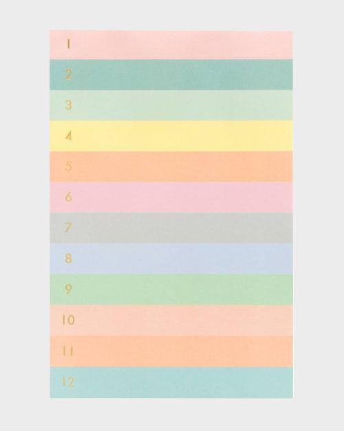 Rifle Paper co Numbered Color Block Memo Pad Muistilehtiö