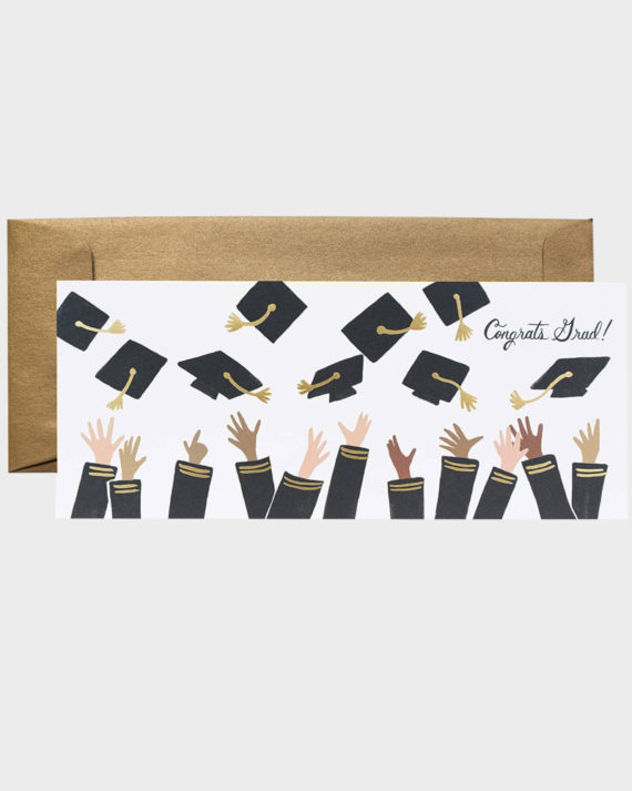 Rifle Paper co Congrats Grad Greeting card Onnea valmistuneelle