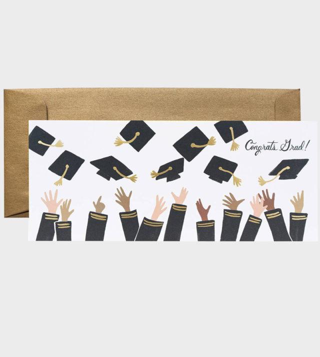 Rifle Paper co Congrats Grad Greeting card Onnea valmistuneelle
