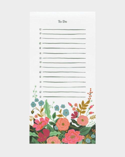 Rifle Paper co Floral vines market shopping list kauppalista