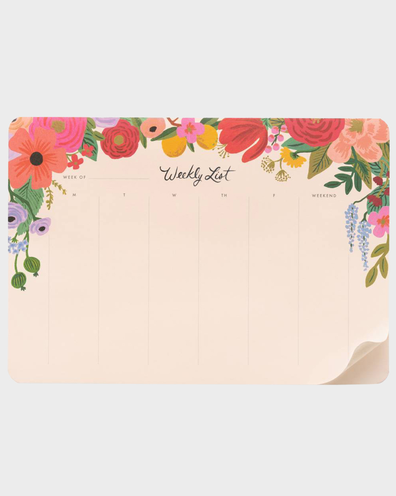 Rifle Paper co Garden Party Weekly list Viikkolista