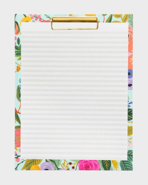 Rifle Paper co Garden Party clipfolio kirjoituslehtiö