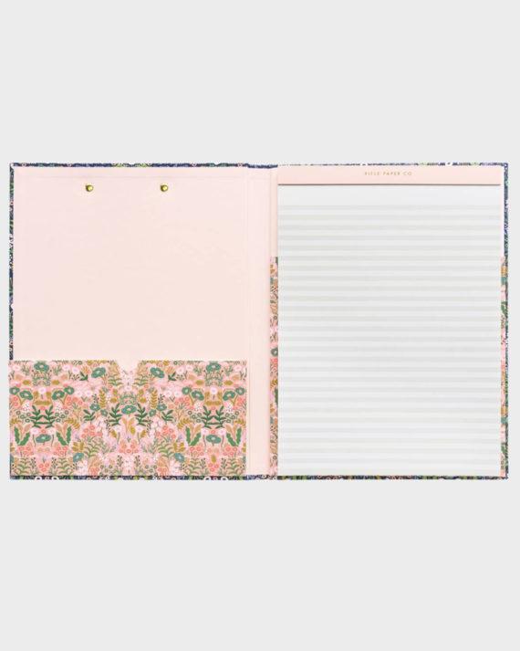 Rifle Paper co Tapestry clipfolio kirjoituslehtiö