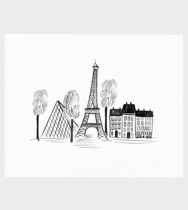 Rifle Paper co Paris Sketch Art Print Pariisi Juliste