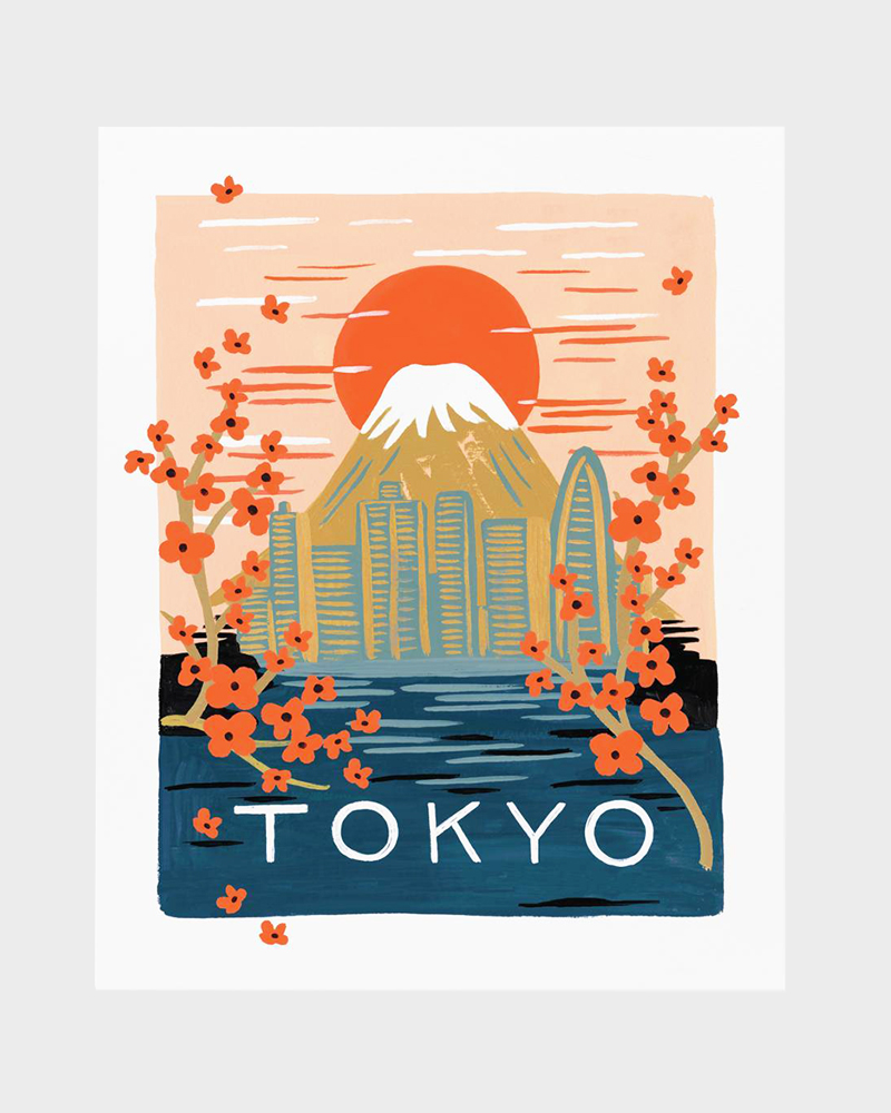 Papershop Helsinki Rifle Paper co Bon Voayge Tokyo Poster Art Pr