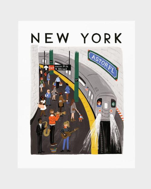 Papershop Helsinki Rifle Paper co New York World Traveler art pr
