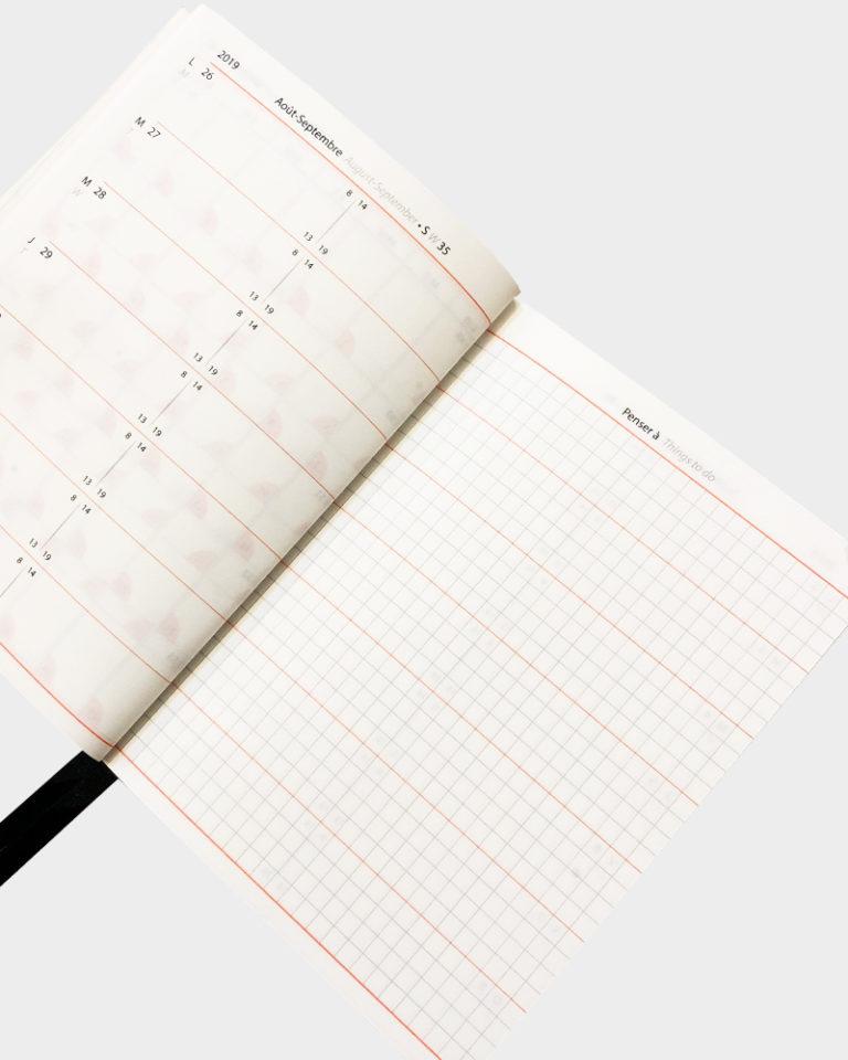 Monsieur Papier Taskukalenteri Pocket Calendar Planner 2020