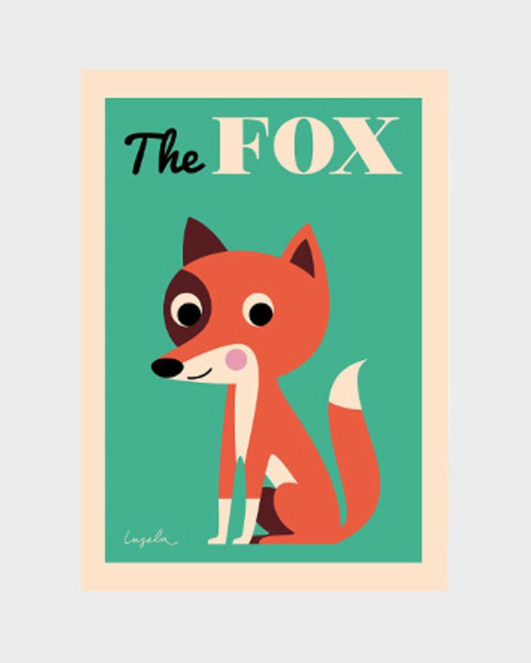 Papershop Helsinki Omm Design Fox Poster Kettu Juliste