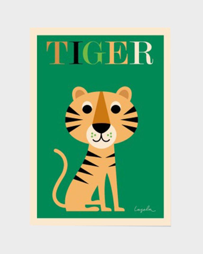 Papershop Helsinki Omm Design Tiger Poster Tiikeri Juliste