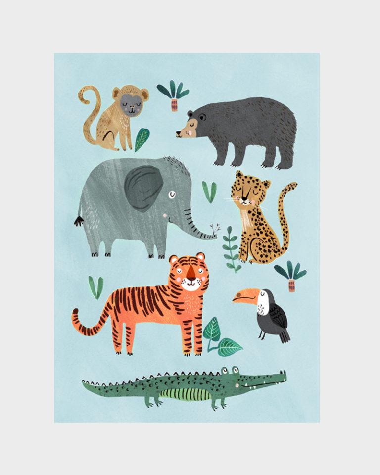 Papershop Helsinki Petit Monkey Wild animals Poster Juliste