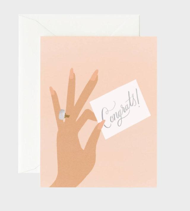 Engagement Congratulation Card Onnittelukortti Kihlat