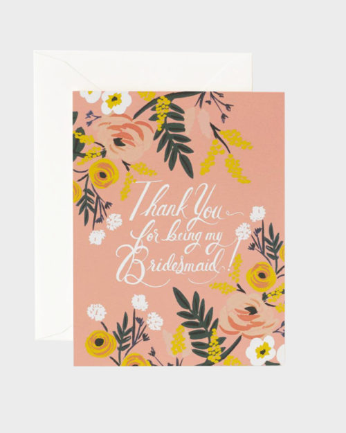 Thank You for being my bridesmaid Kiitoskortti kaasolle
