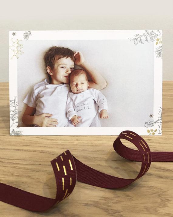 Papershop painostudio Misteli Joulukortti omilla valokuvilla
