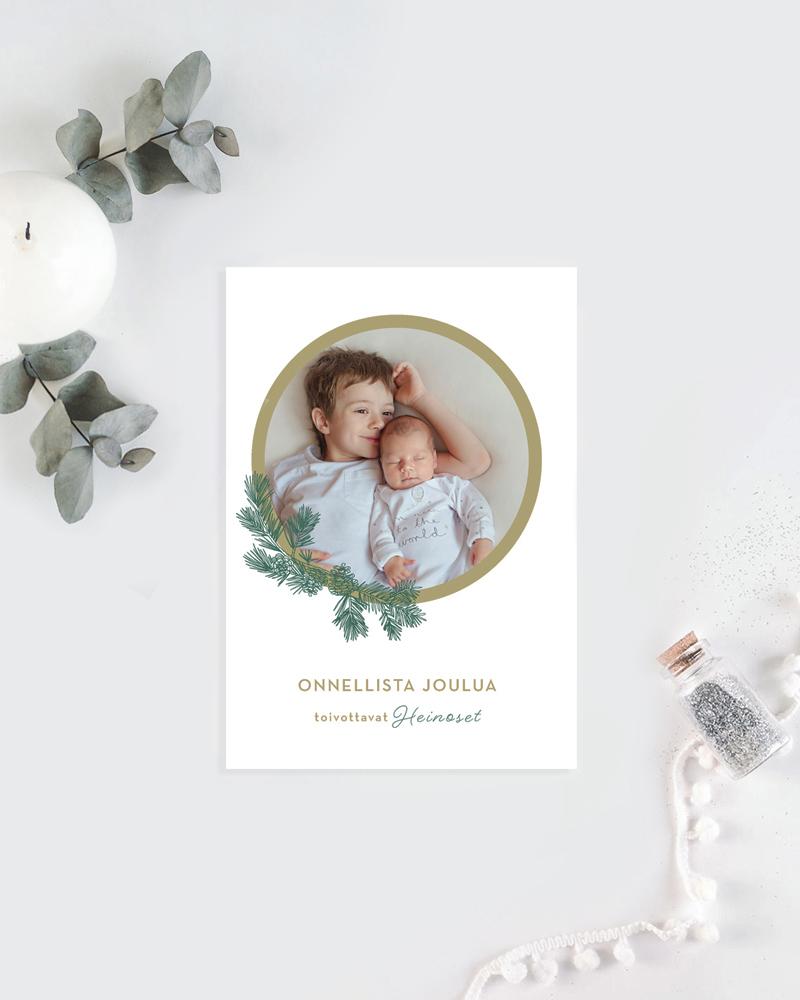 joulukortti omalla valokuvalla