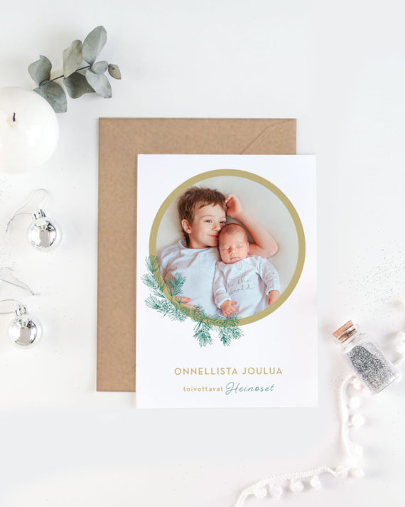 Papershop painostudio Havupallo Joulukortti omalla valokuvalla