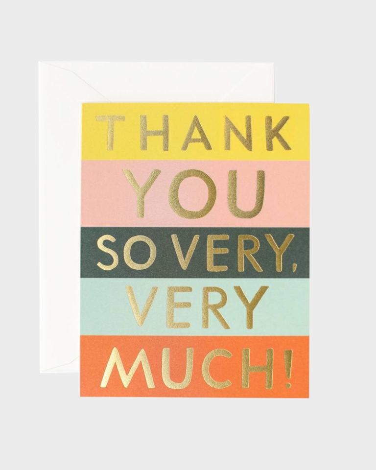Thank You Card Kiitoskortti