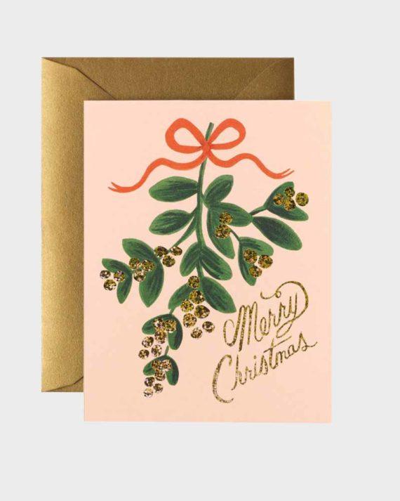 Kaunis Misteli joulukortti paketti