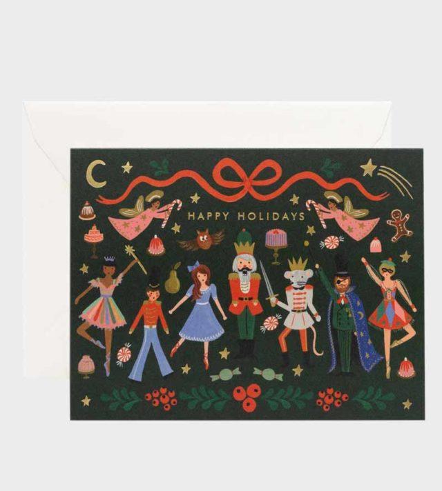 Rifle Paper co Nutcracker Ballet Christmas Card Joulukortti